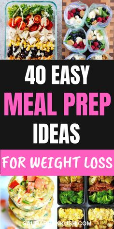 List of Healthy Meal Prep Ideas for a week & Healthy Meal Prep Recipes for the week for beginners. You'll fall in love with these easy meal prep ideas for beginners, meal prep ideas for weight loss recipes & meal prep recipes as they are special Weight Loss Meals, Healthy Recipes For Weight Loss, Easy Healthy Recipes, Healthy Snacks, Healthy Eating, Healthy Weight, Dinner Healthy, Breakfast Healthy, Health Recipes