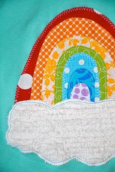 Rainbow applique - maybe a 5 in rainbow? Maybe with that rainbow skirt I saw somewhere?