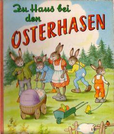 Zu Haus bei den Osterhasen - Bilderbuch 60er--www.eichwaelder.de