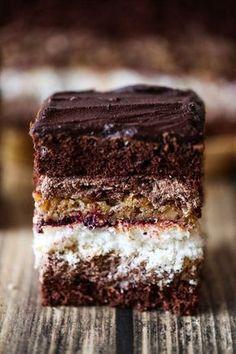 Ciasto Sułtan Sultan cake perfect for Christmas Polish Desserts, Polish Recipes, Sweet Recipes, Cake Recipes, Dessert Recipes, Fudge Cake, Something Sweet, Christmas Desserts, Coffee Cake