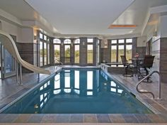 Indoor Pool In A Spectacular Estate in Minnesota