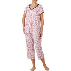 Secret Treasures Women's Pajama Flutter Short Sleeve 2 Piece Sleepwear Set, Size: XL, Pink