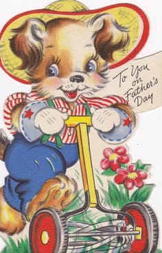 Vintage Happy Father's Day card.