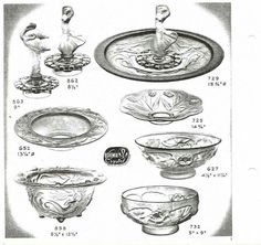 JOSEF INWALD BAROLAC GLASS WORKS 1930s catalog page