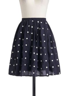 Give It Your Best Dot Skirt, #ModCloth