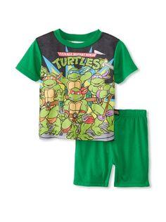 Kid's Ninja Turtle 2-Piece Pajama Set (Green)