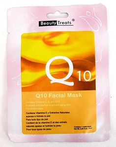 BEAUTY TREATS Q10 Facial Mask Refreshing Vitamin C Solution for All Skin Types (Choice Qty) 10 pk Review