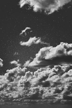 Discovered by Dany MR. Find images and videos about black, black and white and sky on We Heart It - the app to get lost in what you love. White Tumblr, Dark Tumblr, I Wallpaper, Wallpaper Backgrounds, Iphone Wallpapers, Sky And Clouds, Night Clouds, Night Skies, White Photography