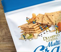 Diamond Grains Multi-grain Crisp on Packaging of the World - Creative Package Design Gallery