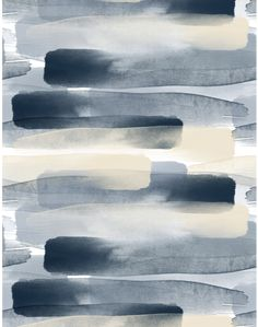 Layers of hand-painted watercolor flow across the paper - designed by Emma Hayes, available at The Pattern Collective