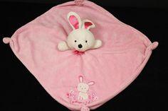 Carters Pink Bunny Rabbit Adorable Stuffed Animal Security Lovey Baby Blanket in Baby, Nursery Bedding, Blankets & Throws | eBay