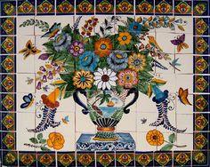 Mexican talavera mural