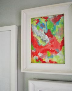 Techniques for painting your own art abstract art...Summer Pinterest Challenge: Paint Party | Young House Love
