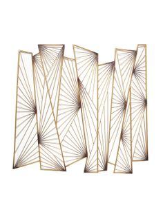 """Metal Wall Art by Three Hands at Gilt Metal Wall Art: Vintage inspired metal wall art Features an abstract design Measurements: 37"""" W x 34"""" D Material: Metal Care: Wipe with a damp cloth Brand: Three Hands 4172 php"""