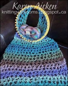 Knitting With Looms: Waves of Lace Shawl by Talina Christy