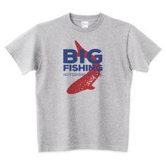 (釣りざんまい) BIG FISHING 釣りTシャツ   デザインTシャツ通販 T-SHIRTS TRINITY(Tシャツトリニティ)
