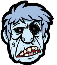 Recortables de dibujos de Halloween | Máscara de zombi