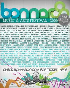 Bonnaroo 2009 Lineup