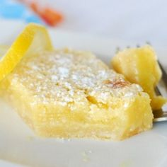 Melt in Your Mouth Lemon Bars!  1 box angel food cake mix 2 cans lemon pie filling  Mix dry cake mix and cans of pie filling together in large bowl. Pour into greased 9 x 13″ baking pan. Bake at 350 degrees for 25 minutes by Charlene0751