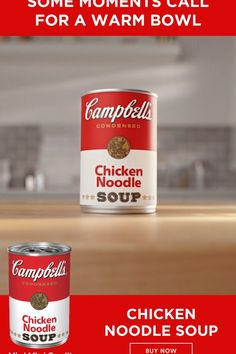 Nothing warms you up like a comforting bowl of Campbell's Chicken Noodle Soup made with fresh noodles.