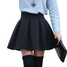 Aliexpress.com: Comprar Alta calidad moda otoño e invierno más tamaño de cintura alta faldas cortas 3 espacio de Color de algodón tutú Keep Warm mujeres falda de falda de ropa interior fiable proveedores en shenzhen cheap sale