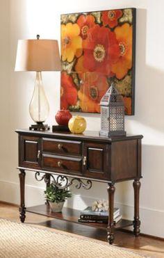 Ebony Metal Trim Cabinet #kirklands #rhapsodayofcolor