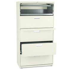 HON® - 600 Series Five-Drawer Lateral File, 36w x19-1/4d, Putty - Sold As 1 Each - Counterweight included, where applicable, to meet ANSI/BIFMA stability requirements. by HON Products. $902.63. HON® - 600 Series Five-Drawer Lateral File, 36w x19-1/4d, PuttyCounterweight included, where applicable, to meet ANSI/BIFMA stability requirements. Lock secures both sides of drawer and heavy-duty, three-part, telescoping, steel ball bearing suspension offers smooth drawer oper...