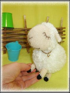 МК Вязание спицами: очаровательная белая овечка - Ярмарка Мастеров - ручная работа, handmade
