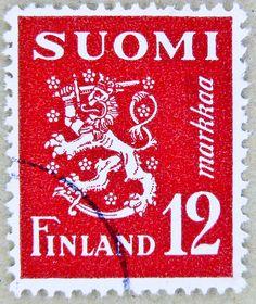 'Suomen Leijona', the Finnish lion, national symbol of Finland | Suomi/Finland