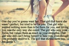 .That girl would be me............