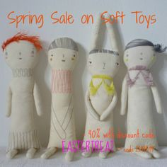 Soft Toy Sale - 40% discount on all soft toys with discount code EASTERTREAT. Offer ends 21/04/14