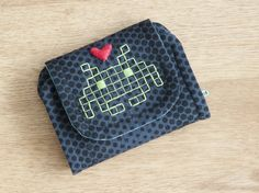 Space invader embroidery