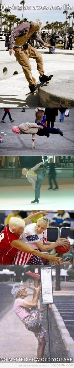 Awesome old people in 5 pictures