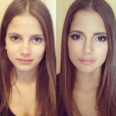 Ash brown hair Prom makeup