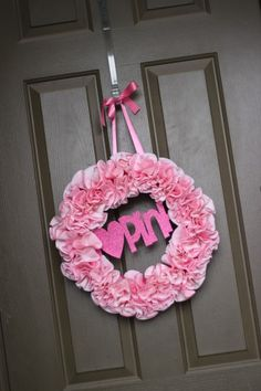 Cupcake wrapper wreath...awesome  easy party decoration!