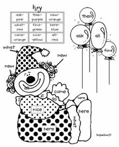 Color by Sight Words; center activity