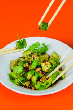 lucky peach Chinese  Cucumber Salad