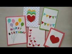 5 Cute & Easy Greeting cards | Srushti Patil - YouTube