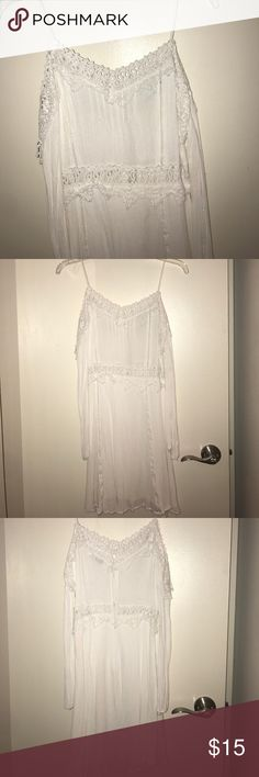 Lush White Crochet Dress Super cute Lush white Crochet dress. Size medium Lush Dresses
