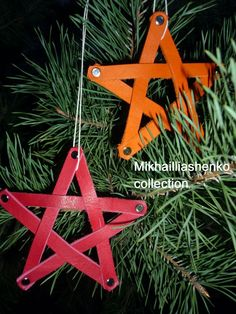 A simple leather Christmas ornament that could be made with scrap leather and rivets! Leather Art, Leather Gifts, Leather Jewelry, Leather Accessories, Leather Diy Crafts, Leather Projects, Diy Leather Ornaments, Diy Christmas Ornaments, Handmade Christmas