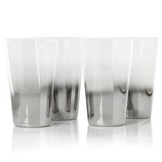 Colin Cowie Set of 4 Shadow Highball Glasses with Mirror Finish