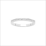 On trend angular sparkle ring, stainless steel