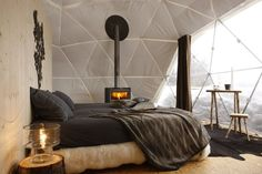 Whitepod Room- Switzerland ... http://www.homedit.com/awesome-bedroom-designs/
