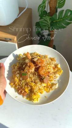 Shrimp Fried Rice, Nasi Goreng, Chinese Food, Risotto, Fries, Cooking, Ethnic Recipes, Dan, Kitchen