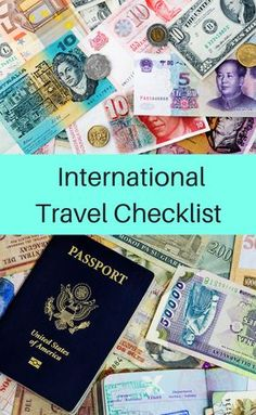 Checklist of essential things to do before traveling abroad.
