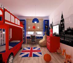 яркий дизайн детской комнаты фото