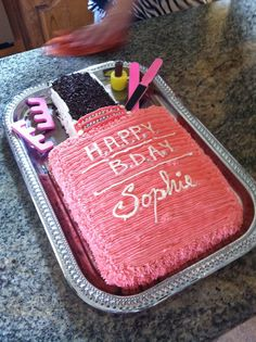 nail birthday party decorations   Download Nail Polish Birthday Cake Ideas For Women