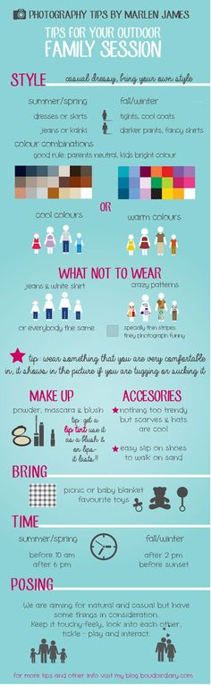 What to wear to your family portrait session infographic #pictutorial