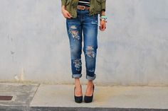 Distress your own jeans with this tutorial.