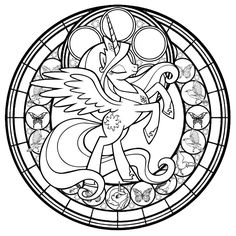 Commish: Princess Twilight StainedGlass -line art- by Akili-Amethyst ...